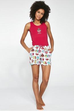 Cornette 292-18 Піжама для дівчат підлітків 26 Happy принт