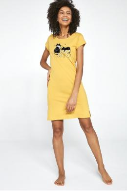 Cornette 612-21 Жіноча нічна сорочка 206 Cats 2 принт