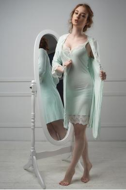 Effetto 0203 Жіночий халат зелений