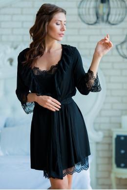 Effetto 0203 Жіночий халат чорний