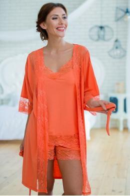 Effetto 0217 Жіночий халат помаранчевий