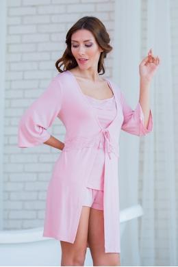 Effetto 0236 Жіночий халат рожевий