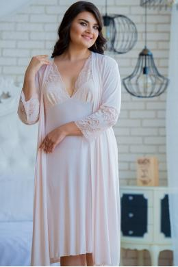 Effetto 0265 Жіночий халат кремовий
