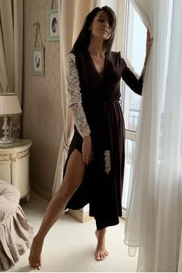 Effetto 0274B Жіночий халат коричневий
