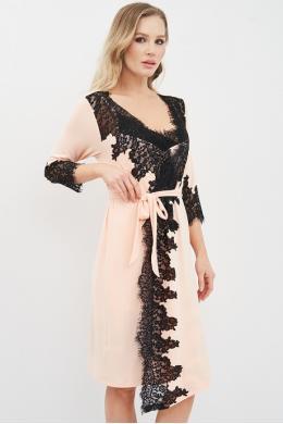 Effetto 03104 Жіночий халат персиковий
