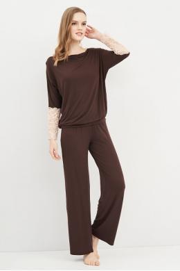 Effetto 0277B Жіночий домашній костюм коричневий
