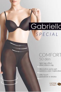 Колготки Gabriella Comfort 50 den с декоративными трусиками Черный