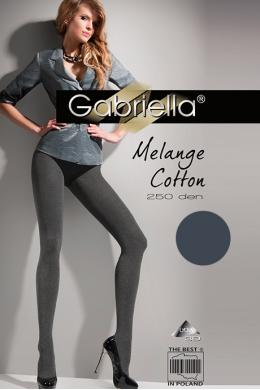 Колготки Gabriella Melange Cotton 250 den Графит