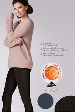 Колготки Gabriella Warm up Fashion 200 den без трусиковой части Графит