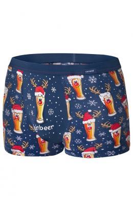 Cornette 007-20 Merry Christmas Чоловічі шорти 53 Beer принт