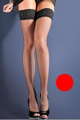 Чулки Gabriella Calze Kabarette 151 с самоудерживающимся кружевом 9 см Красный