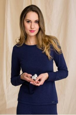 Key LVD 729 3 Жіноча футболка Hot Touch т.синій меланж