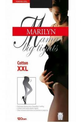 Колготки для беременных MISS MARILYN BIG MAMA COTTON 120 NERO