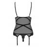 Комплект Obsessive Bondea corset Черный