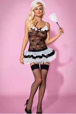 Костюм Obsessive Housemaid Черно-белый