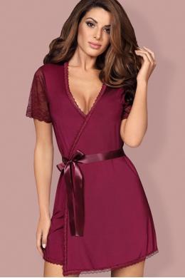 Комплект Obsessive Miamor robe Бордо
