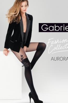 Колготки Gabriella Aurora 60 den без трусиковой части Черный