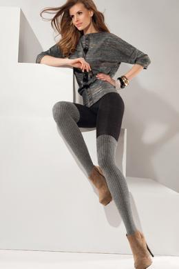 Колготки Gabriella Roxy Cotton 200 den Черно-серый