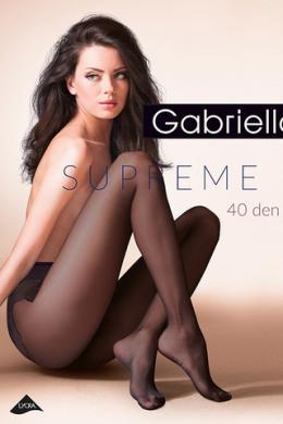 Колготки Gabriella Supreme 40 den с ажурными трусиками Черный