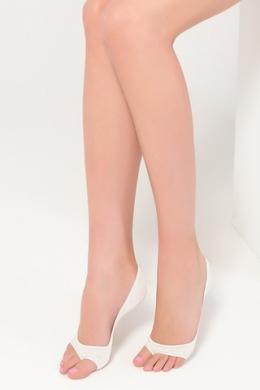 LEGS Следы женские 720 PEEP TOE COTTON BIANCO