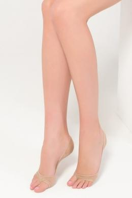 LEGS Следы женские 720 PEEP TOE COTTON NATURALE