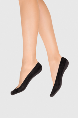 LEGS Следы женские 725 LASER CUT SILICONE BAND COTTON NERO
