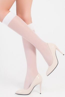 LEGS Гольфы женские прозрачные 150 ГОЛЬФЫ LETO 15 (2 ПАРЫ) BIANCO