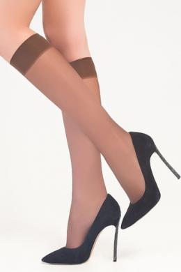 LEGS Гольфы женские прозрачные 150 ГОЛЬФЫ LETO 15 (2 ПАРЫ) BRONZO