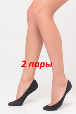 LEGS Следы женские 740 BALLERINA BAMBOO VISKOSE (2 пари) NERO ONESIZE
