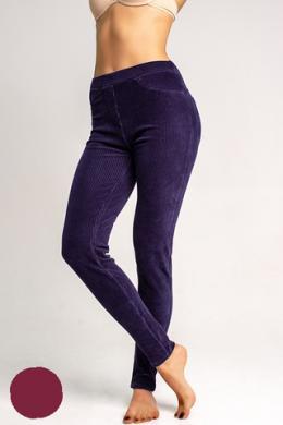 LEGS Леггинсы-брюки L1452 LEGGINGS VELVET RIB BORDEAUX
