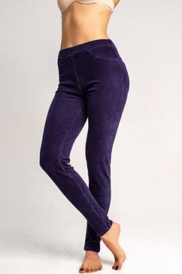 LEGS Леггинсы-брюки L1452 LEGGINGS VELVET RIB NAVY