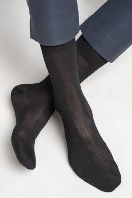 LEGS Носки мужские из хлопка SOCKS MEN FILO DI SCOZIA STANDARD NERO