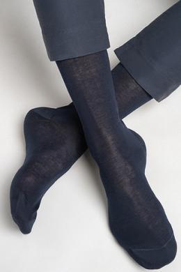 LEGS Носки мужские из хлопка SOCKS MEN FILO DI SCOZIA STANDARD DARK BLUE