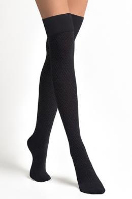 LEGS Заколеновки хлопковые L1520 PARIGINA ROMBI COTONE NERO