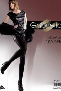 Колготки Gabriella Microfibre 100 den без трусиковой части Черный